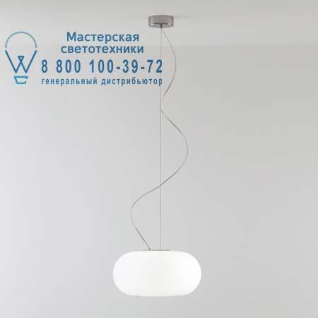OVER S3 опалевое белое стекло/хром, подвесной светильник Prandina 1303000110101