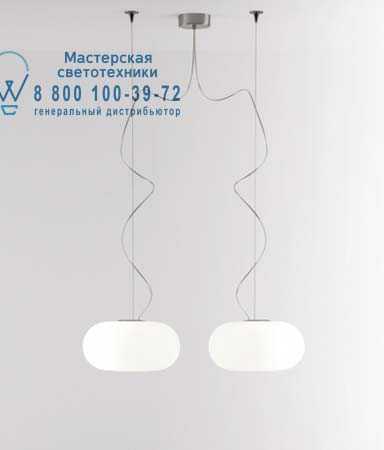 Prandina 1303000510201 OVER S33 опалевое белое стекло/никель