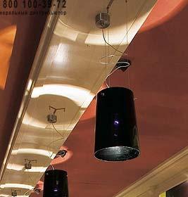 SERA S1 опаловое черное стекло/никель, подвесной светильник Prandina 1333000110205