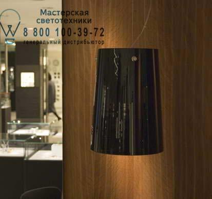 Prandina 1333000310105 подвесной светильник SERA S3 опаловое черное стекло/хром