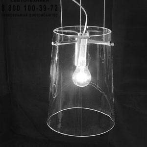 SERA S3 прозрачный/никель, подвесной светильник Prandina 1333000310220