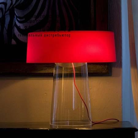 Prandina 1474000212006 GLAM T3 прозрачный/опаловое красное стекло