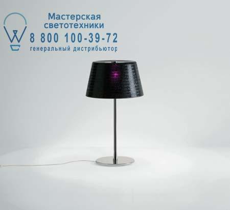ABC T1 черное прозрачное стекло/хром, настольная лампа Prandina 1754000110105