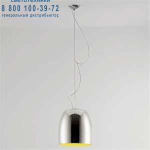 NOTTE S3 металлический белый/золотой внутри никель, подвесной светильник Prandina 1843000110258