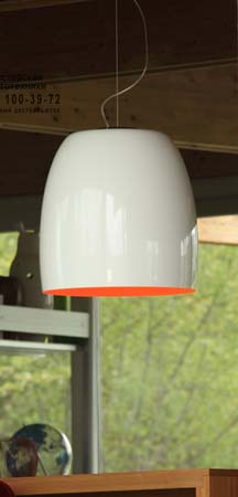 Prandina 1843000210128 NOTTE S5 металлический белый/оранжевый внутри хром