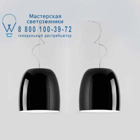 NOTTE S33 металлический черный/золотой внутри хром, подвесной светильник Prandina 1843000310159
