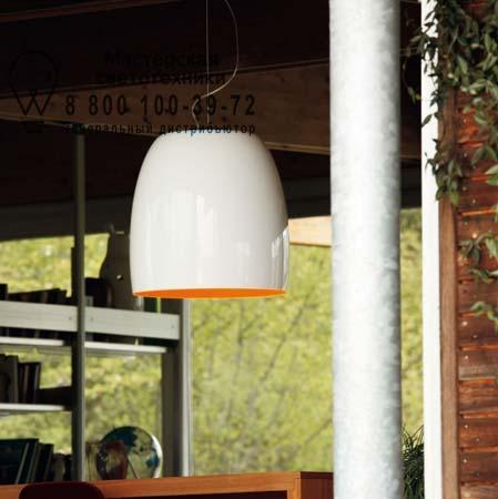 1843000410128 Prandina NOTTE S7 металлический белый/оранжевый внутри хром