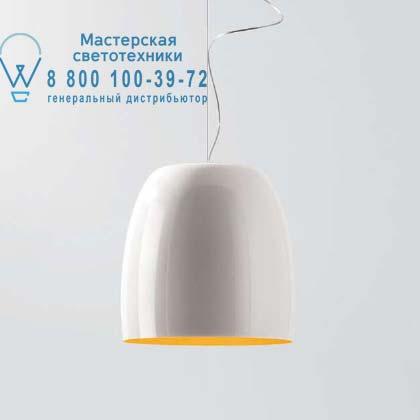 Prandina 1843000410258 подвесной светильник NOTTE S7 металлический белый/золотой внутри никель