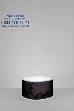 Prandina 1862000213038 торшер ROOM F50 (IP20) опаловый белый/черная шелковая ткань с рисунком