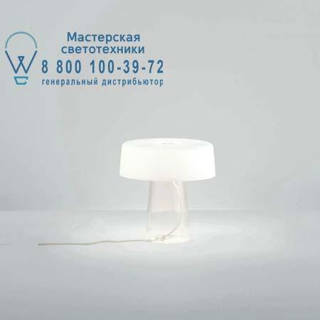 Prandina 1884000210001 настольная лампа GLAM SMALL T3 прозрачный/опаловое белое стекло