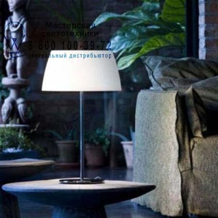 GINGER GLASS T50 опаловое белое стекло/хром, настольная лампа Prandina 1914000610101