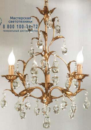 1300F col.oro золотой с прозрачными кристаллами, люстра Tredici Design 1300F col.oro