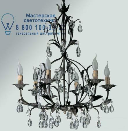 Tredici Design 1300G.6 1300G.6 черный с прозрачными кристаллами и хрусталем