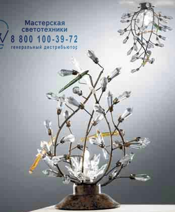 1302.1C Tredici Design 1302.1C черный с разноцветными кристаллами и хрусталем