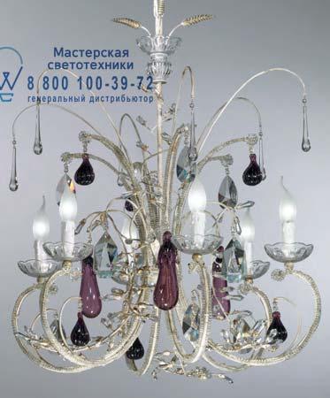 Tredici Design 1329.6CRA люстра 1329.6CRA бело-золотой
