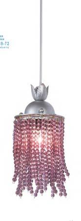 Tredici Design 1399 E 1399 E серебристый с фиолетовыми кристаллами