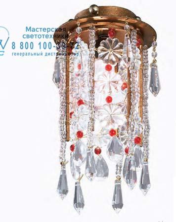 Tredici Design 1399 G/SPOT потолочная люстра 1399 G/SPOT золотисто-медный с красными кристаллами