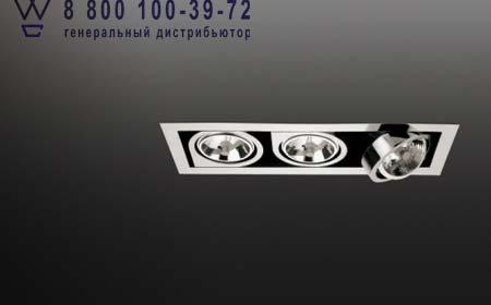 CORNER 8147 хром, встраиваемый светильник Vibia 8147-01
