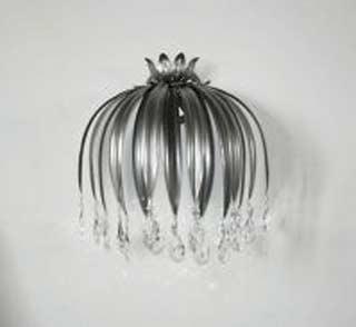 Eurolampart 1084/01AP argento nero