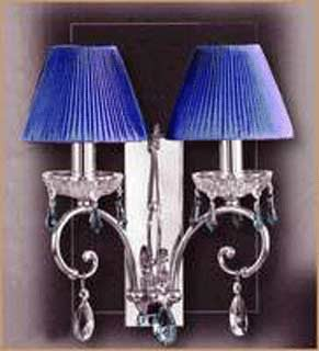 Salvilamp 3928/2 blue-chrome