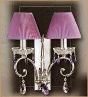 Salvilamp 3928/2 violet-crome