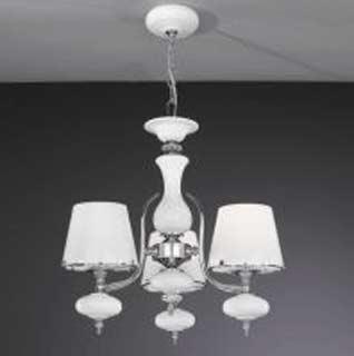 La lampada L 20211/3.02 white glass Paderno luce