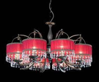 La lampada L 418/8.40 (красн.абажур) Paderno luce