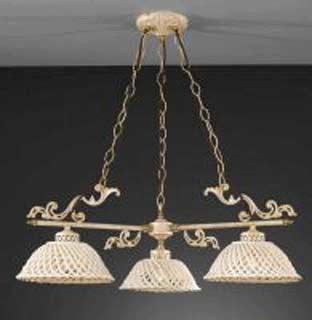 La lampada L.664/3.17 SPAGHETTI AVORIO Paderno luce