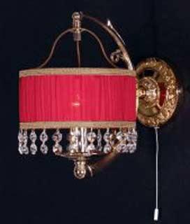 La lampada WB 418/1.26 (красный абаж.) Paderno luce