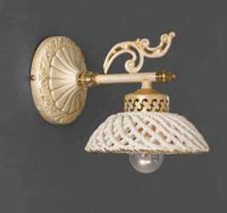 La lampada WB.664/1.17 SPAGHETTI AVORIO Paderno luce