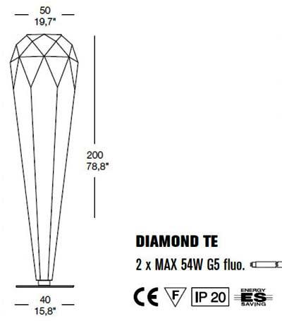 Diamond Stehlampe TE торшер Morosini, фото 2