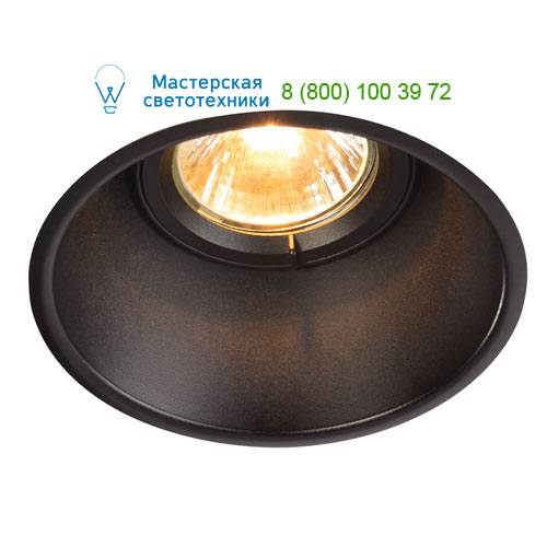 113140 SLV by Marbel HORN-T GU10 светильник встраиваемый для лампы GU10 50Вт макс., черный