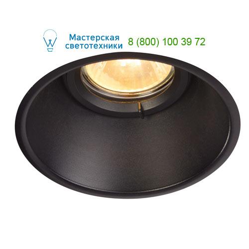 113160 SLV by Marbel HORN-O GU10 светильник встраиваемый IP21 для лампы GU10 50Вт макс., черный