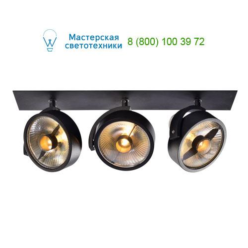 113370 SLV by Marbel KALU RECESSED QPAR 3 светильник встраиваемый для 3-х ламп ES111 по 75Вт макс., матовый черный