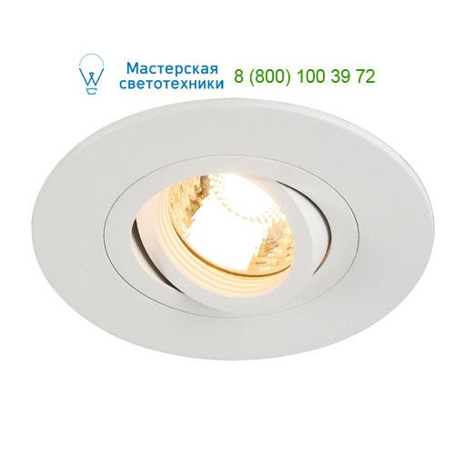 113441 SLV by Marbel NEW TRIA XL ROUND GU10 светильник встраиваемый для лампы GU10 50Вт макс., белый