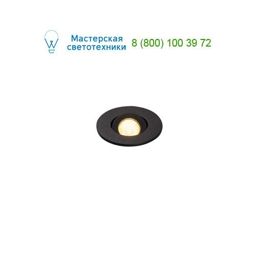 113980 SLV by Marbel NEW TRIA MINI DL ROUND светильник с LED 2.2Вт, 3000K, 30°, 143lm, черный