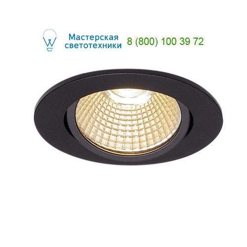 114380 SLV by Marbel NEW TRIA 68 LED ROUND SET светильник с COB LED 9ВТ (12Вт), 3000К, 775lm, 38°, с бл. питания, черный