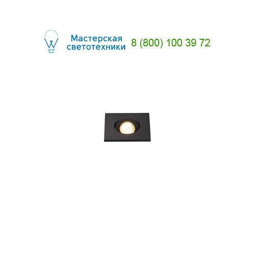 114410 SLV by Marbel NEW TRIA MINI DL SQUARE светильник с LED 2.2Вт, 3000K, 30°, 143lm, черный