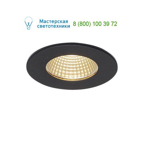 114420 SLV by Marbel PATTA-I ROUND светильник IP65 встраиваемый c LED 9Вт (12Вт), 38°, 3000K, 775lm, черный