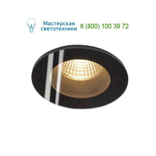 114440 SLV by Marbel PATTA-F ROUND светильник IP65 встраиваемый c LED 9Вт(12Вт), 38°, 3000K, 630lm, черный