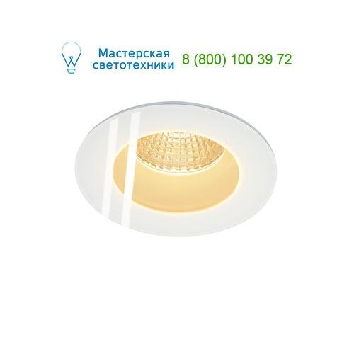 114441 SLV by Marbel PATTA-F ROUND светильник IP65 встраиваемый c LED 9Вт(12Вт), 38°, 3000K, 765lm, белый