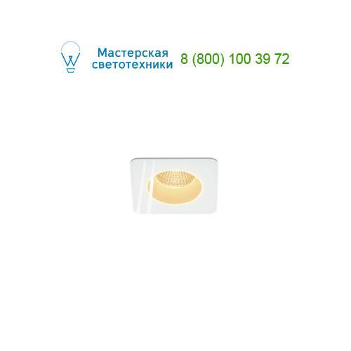 114451 SLV by Marbel PATTA-F SQUARE светильник IP65 встраиваемый c LED 9Вт(12Вт), 38°, 3000K, 765lm, белый