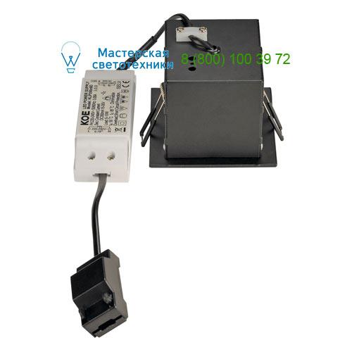 115700 SLV by Marbel KADUX 1 LED SET, светильник с COB LED 6.2Вт (9Вт), 3000К, 600lm, 38°, с бл. питания, черный