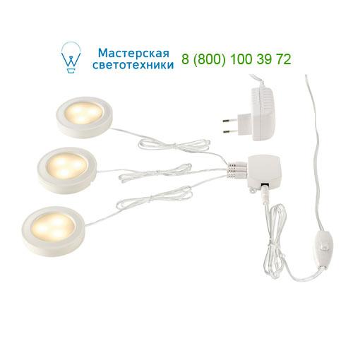 115951 SLV by Marbel UTIX SET, набор из 3х светильников (накл/встр) с LED по 2.2Вт (8.2Вт), 3000K, 3x150lm, с БП, белый