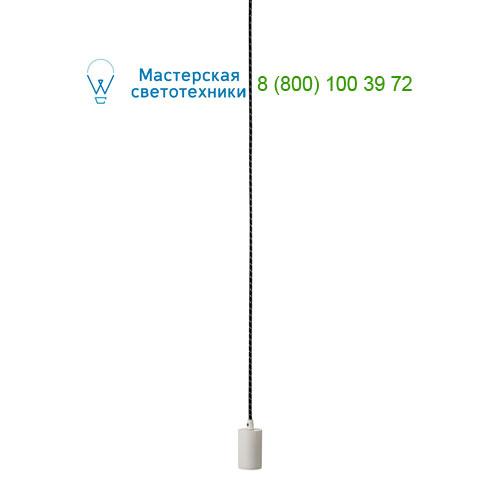 FITU E27 Pendelleuchte, rund, weiss, E27, max. 60W, 2.5m Kabel mit offenem Kabelende