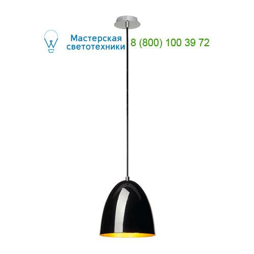 133050 SLV by Marbel PARA CONE 20 светильник подвесной для лампы E27 60Вт макс., черный глянцевый/ золото