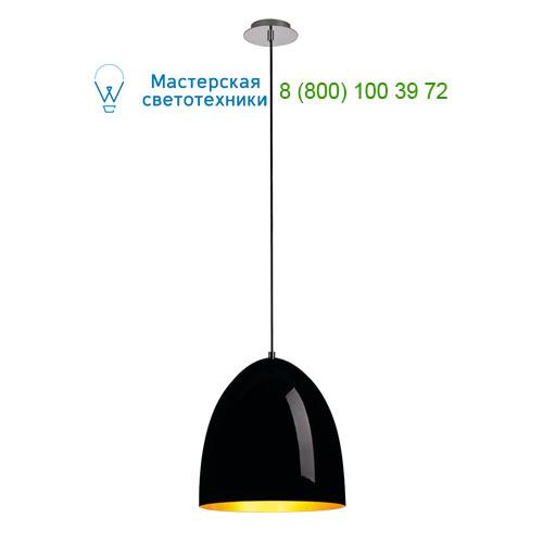 133060 SLV by Marbel PARA CONE 30 светильник подвесной для лампы E27 60Вт макс., черный глянцевый/ золото