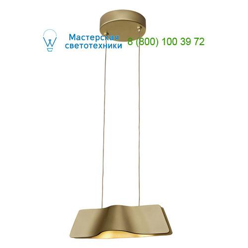 147833 SLV by Marbel WAVE PD светильник подвесной с LED 8.6Вт (12Вт), 3000К, 620lm, матовое золото