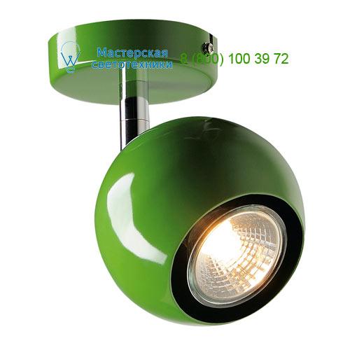149065 SLV by Marbel LIGHT EYE 1 GU10 светильник накладной для лампы GU10 50Вт макс., зеленый