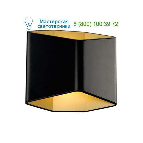 151710 SLV by Marbel CARISO 2 светильник настенный с LED 7.6Вт (11Вт), 3000К, 200lm, черный/ матовое золото